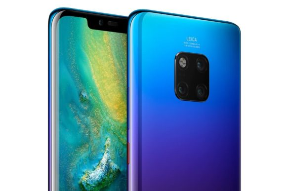 Image of the Huawei Mate 20 Pro in twilight